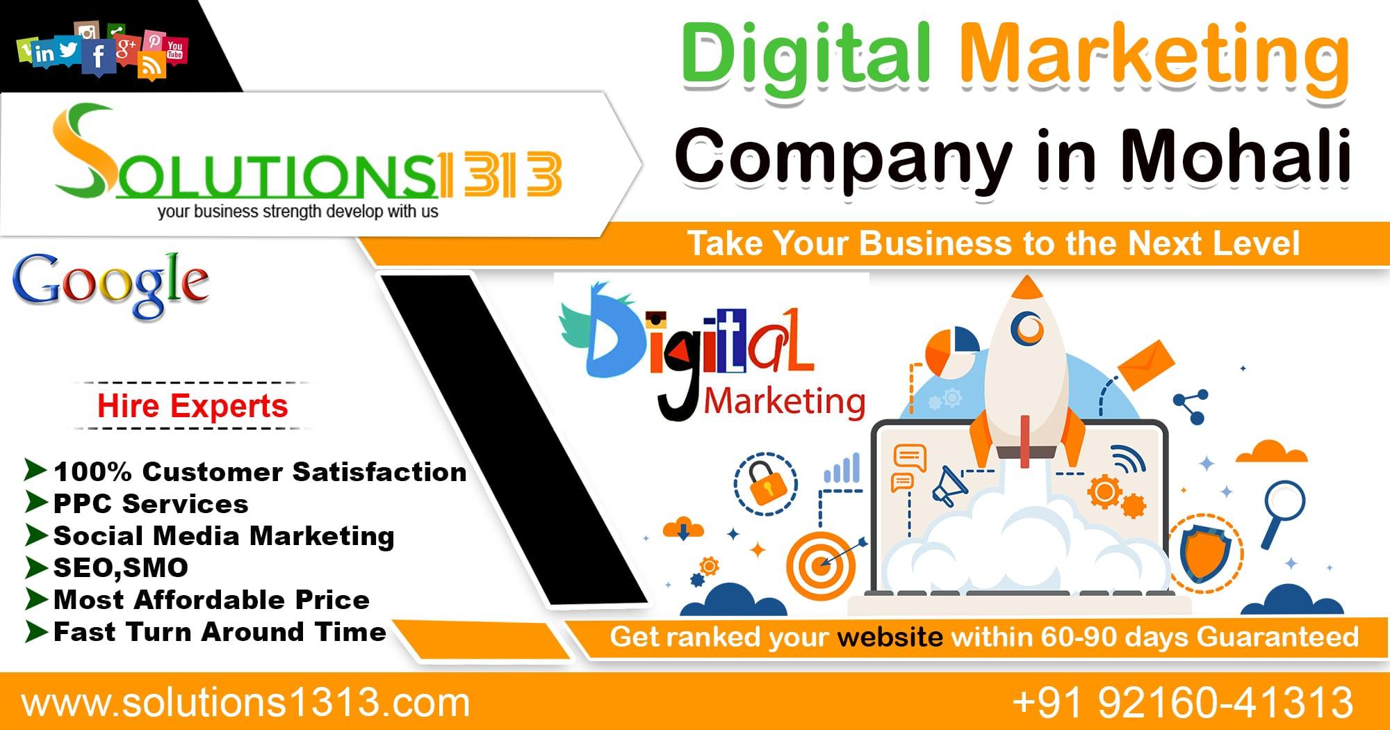 Digital Marketing Company in Mohali | Dial +91 9216041313