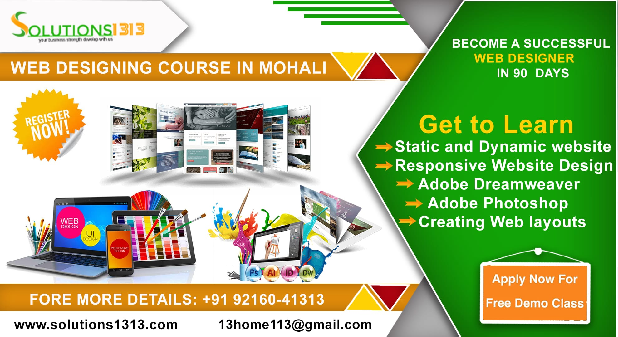 Web Designing Course In Mohali Dial 91 9216041313